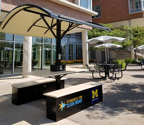New Picnic Tables Offer Solarpowered Charging Stations The - Solar picnic table