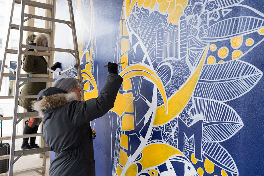 u m ann arbor groups commission interactive mural downtown the