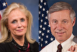 Photo of Debbie Dingell and Fred Upton