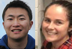 photo of Andrew Liu and Marissa Cloutier