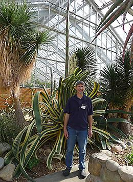 Mike Palmer, Horticulture Manager At Matthaei Botanical Gardens U0026 Nichols  Arboretum, Stands In Front Of The American Agave Plant.