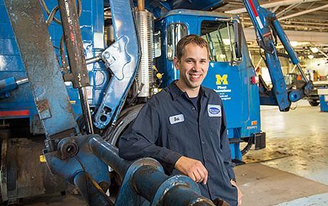 Heavy equipment mechanic keeps U-M running smoothly   The ...