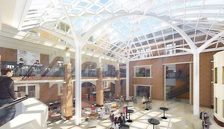 Exceptionnel This Drawing Shows The Planned Enclosure For The Michigan Union Courtyard.  (Drawing Courtesy Of Architecture, Engineering And Construction)