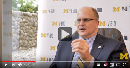 Screen shot from video of Mark Fendrick discussing Value-Based Insurance Design