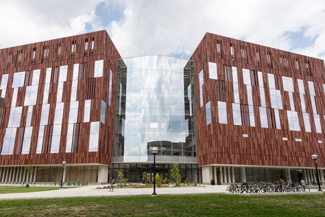 Photo of the exterior of the Biological Sciences Building.