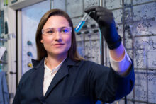 Photo of Alison Narayan in her lab