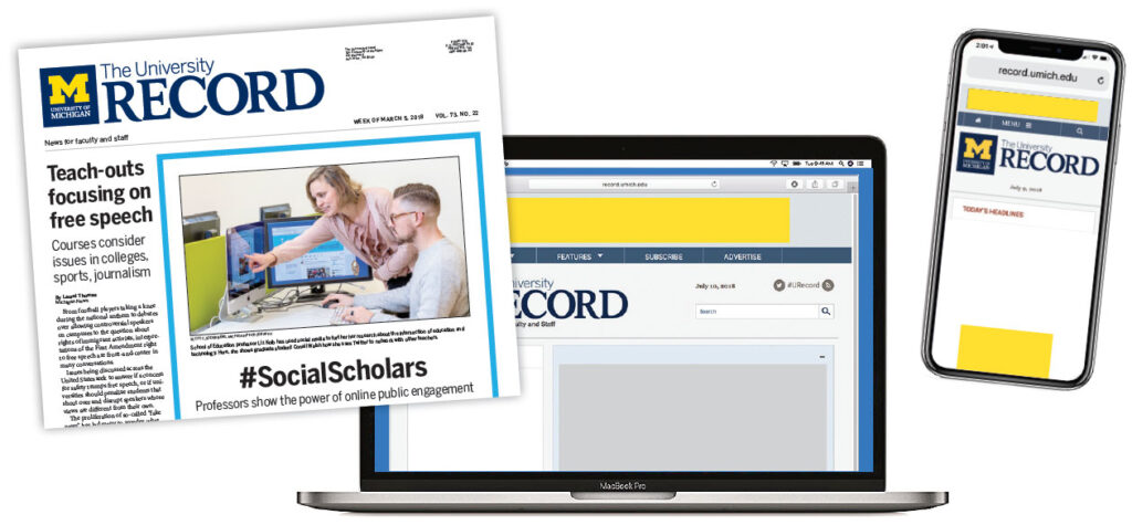 The University Record: Advertising Examples