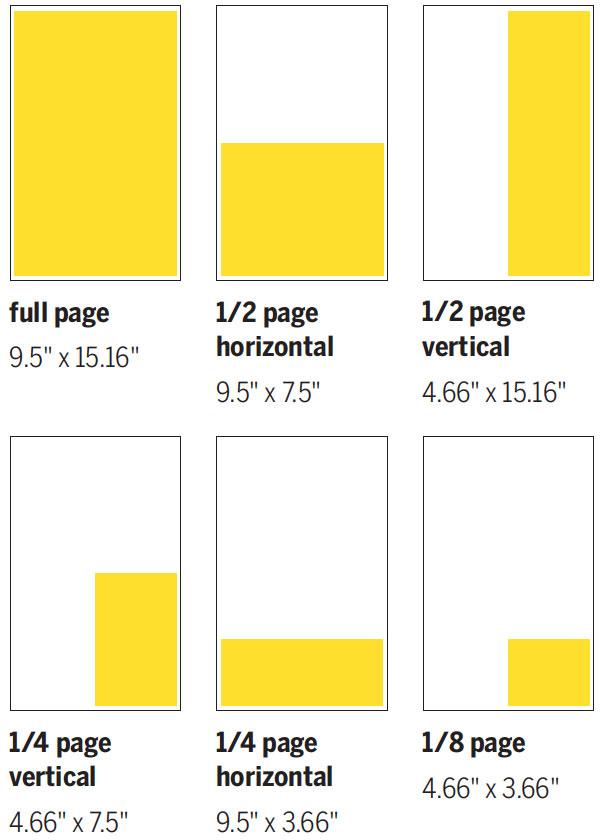The University Record: Advertising Print Sizes