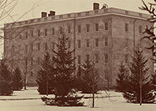 Photo of U-M in 1841 when collegiate-level classes first started