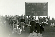 Photo of Michigan Stadium electronic scoreboard that debuted in 1930
