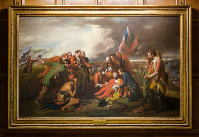 "Photo of ""The Death of General Wolfe"" painting"