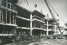 Photo of the Institute for Social Research's new building construction in 1964