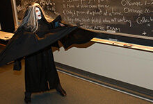 Professor Burton V. Barnes dressed up for Halloween in 2004 for his midterm exams