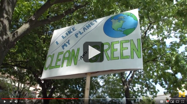 Screenshot of climate change video