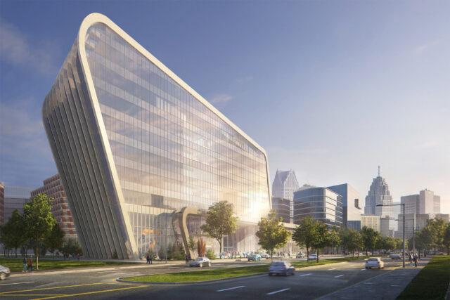 Artist's rendering of the Detroit Center for Innovation.