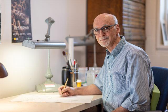 Photo of John Megahan, senior biological illustrator for U-M's Museum of Zoology.