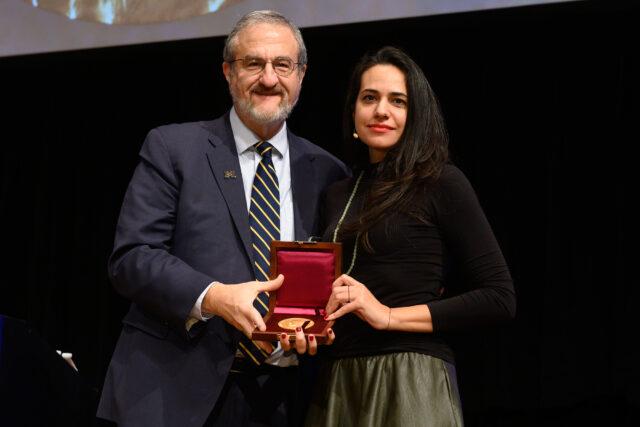 Photo of President Mark and Safa Al Ahmad Schlissel and