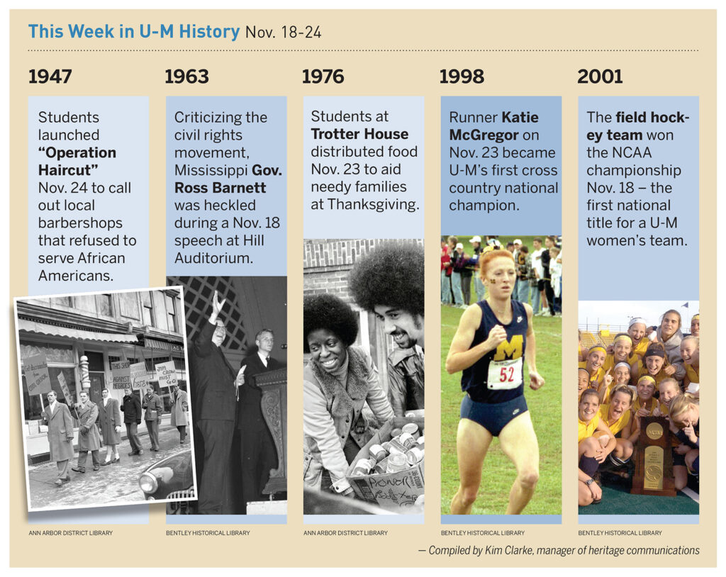 Images of events throughout U-M's history