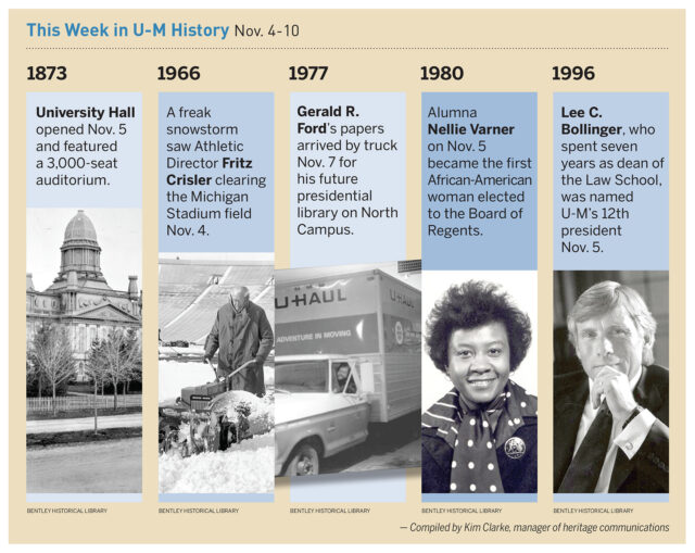 Images of historical events at U-M