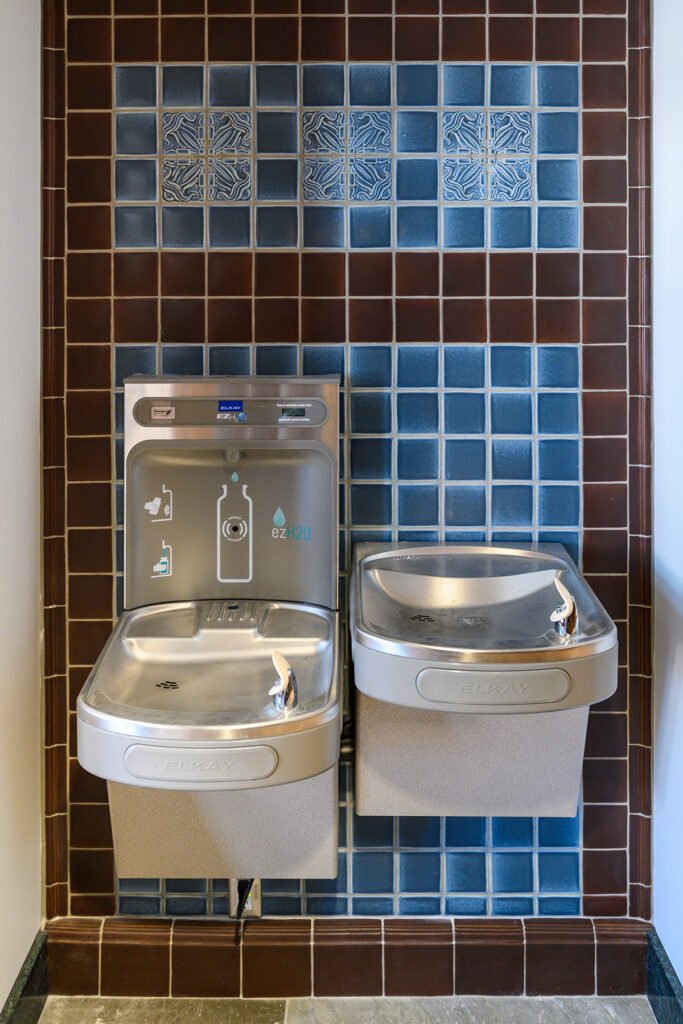 Photo of water fountain and refill station