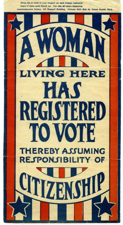 Women won access to the voting booth with ratification of the 19th Amendment to the Constitution in 1920. (Image: Bentley Historical Library)