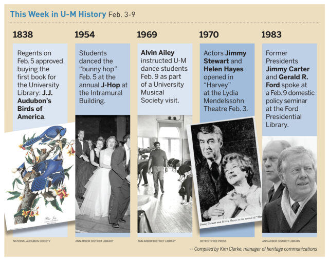 Snippets of events throughout U-M history