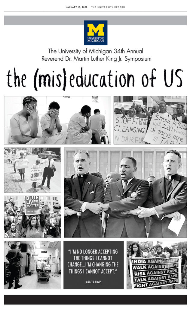 Image of the special section in The Record honoring MLK Day