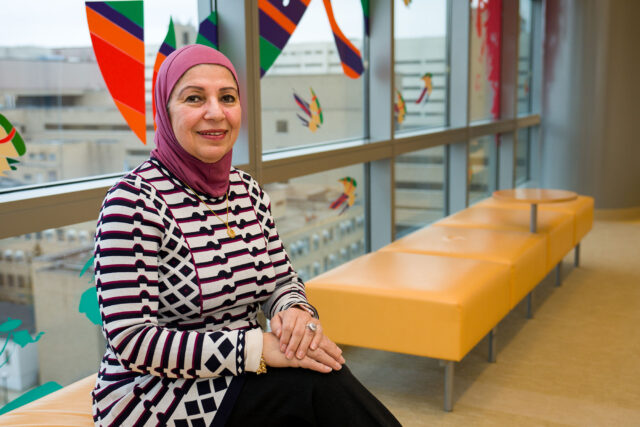 Samya Nasr, director of the Cystic Fibrosis Center and a professor of pediatrics, is leading a team of volunteer staff and physicians dedicated to improving CF care around the world, one country at a time.