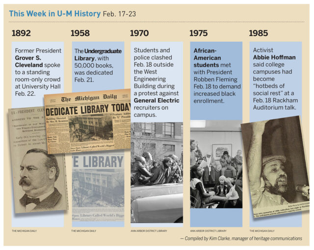 A look at some historical events at the University of Michigan