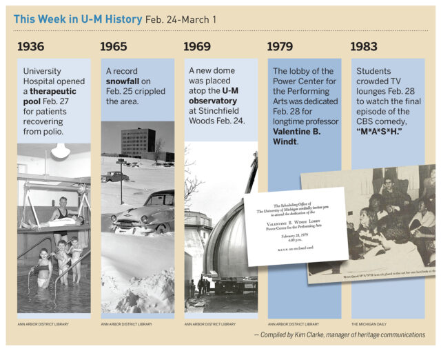 A look at historical events at the University of Michigan