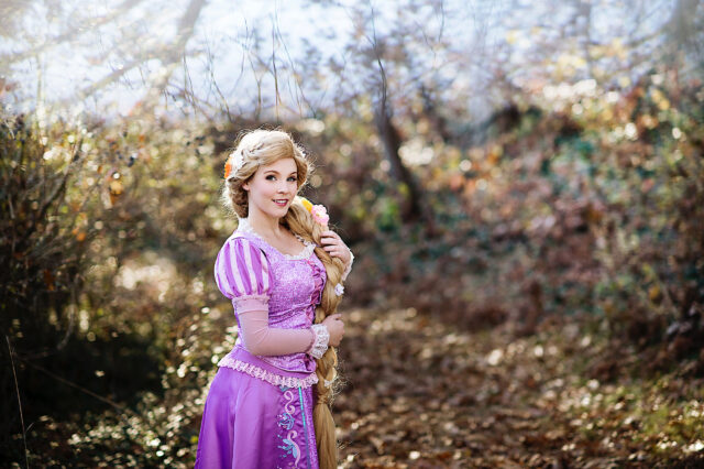 Delaney Andrews enjoys entertaining children while dressed as princesses and fairy tale characters. She can transform into a dozen different characters.