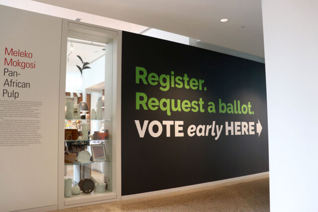 The Ann Arbor City Clerk's satellite office at the U-M Museum of Art opens Sept. 22, with absentee ballots available on Sept. 24. (Photo by Nick Beardslee, Stamps School of Art & Design.)