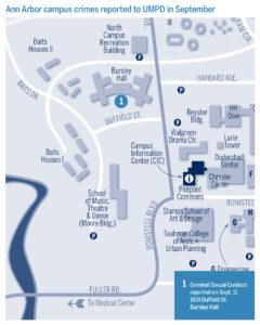 Crime map for September