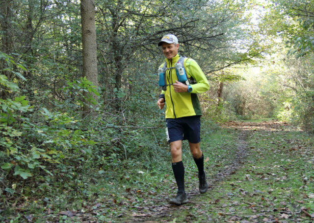 Drew Bennett, associate director of software licensing at the Office of Technology Transfer, competes in ultra-marathons, including 100-milers around the country. (Photo courtesy of Drew Bennett)