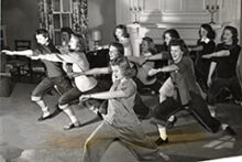 On March 1, 1943, students worked out as part of mandatory wartime physical education classes. Read about some of the other things that happened in U-M history during the week of March 1-7.