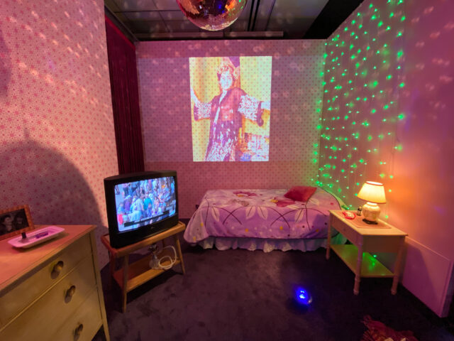 """Artist Yasmine Nasser Diaz's installation in the U-M Institute for the Humanities Gallery is called """"For Your Eyes Only"""" and is on display through April 16. (Photo by Juliet Hinely, Institute for the Humanities)"""