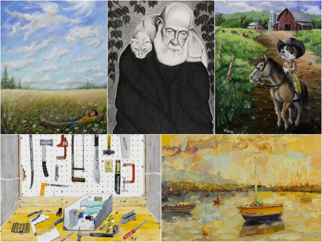 Collage of prisoner art