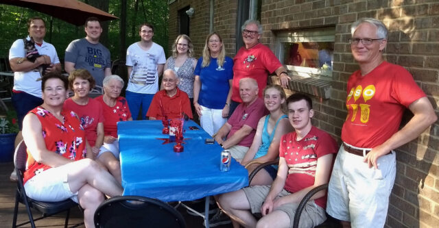 Members of the Balogh family are pictured at a family gathering. (Photo courtesy of the Balogh family)