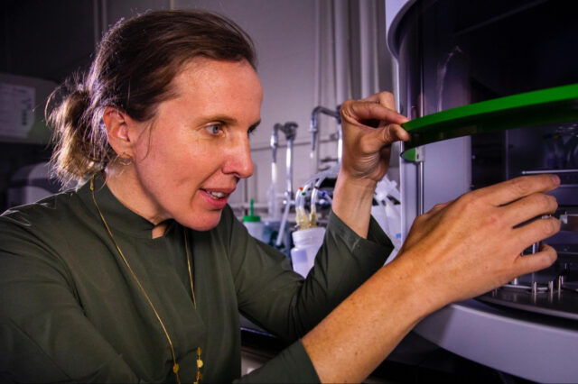 Krista Wigginton, an associate professor of civil and environmental engineering at the University of Michigan, has received a $1.2 million grant from EPA to evaluate the effectiveness of wastewater treatment methods for removing viruses from water. Image credit: Robert Coelius, University of Michigan Engineering