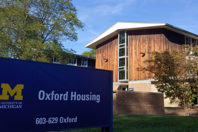 Photo of new windows at Oxford Houses.