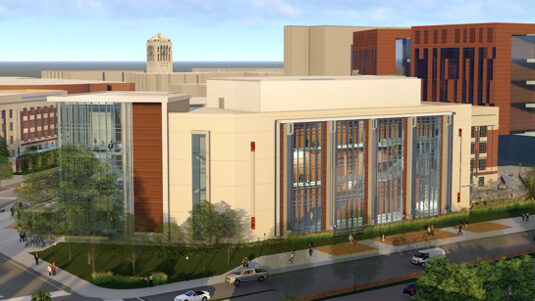 Artists rendering of new Central Campus Classroom Building