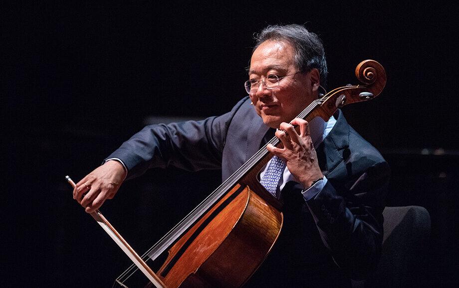 Photo of Yo-yo Ma playing the cello