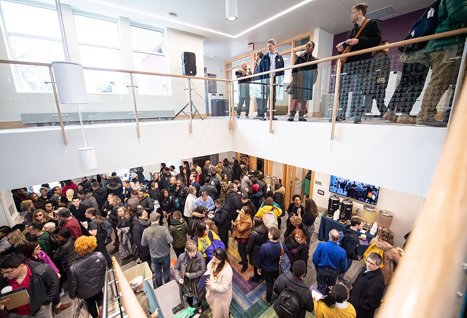 Photo of the crowd at the opening