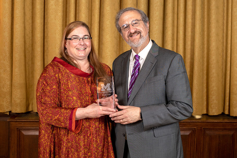 Photo of President Mark Schlissel and Sandra Wiley