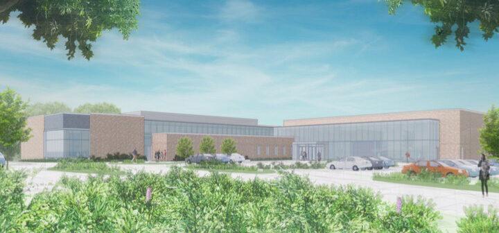 Artist's rendering of the dance building
