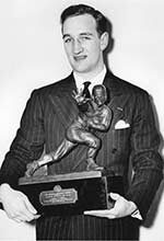 Tom Harmon became U-M's first Heisman Trophy winner Nov. 27, 1940.