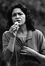On Sept. 12, 1974, Dolores Huerta, a United Farm Workers leader, rallied a Diag crowd to boycott non-UFW produce.