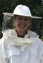 Jennette Green, clinical analyst for the Department of Family Medicine in the Medical School and amateur beekeeper
