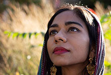 """Poet Adeeba Shahid Talukder (MFA '15) is an alumna of the U-M Helen Zell Writers' Program. She is one of the eight subjects documented as part of Nasurat Durrani's film, """"An American Prayer,"""" which will debut this week as part of the Penny Stamps Speaker Series."""