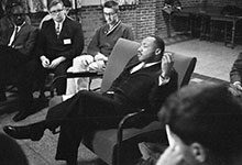 On Nov. 5, 1962, the Rev. Martin Luther King Jr. spend the day on U-M's campus.